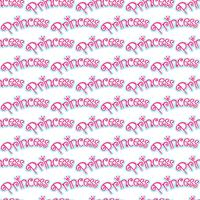 Pink Girly Princess Logo Text Graphic Con corona vettore