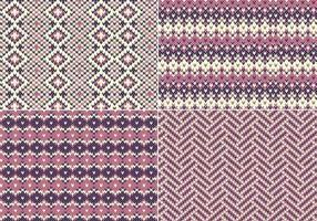 Confezione di modelli vettoriali a maglia