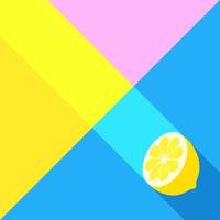 Sfondo creativo estate limone vettore