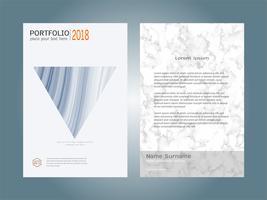 Struttura di marmo bianco del modello della disposizione di progettazione del libro della copertura. vettore