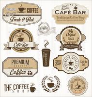 distintivo del caffè vettore