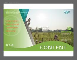 Presentazione del layout design per il modello di copertina della vegetazione.
