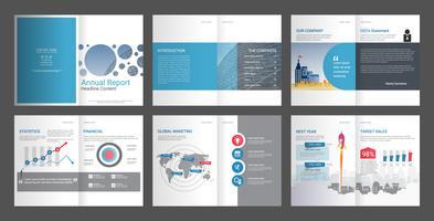 Rapporto annuale per il profilo aziendale e la brochure dell'agenzia pubblicitaria.