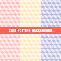Set di cubo modello rosa, viola, giallo colore di sfondo e texture. vettore