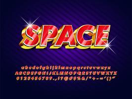 Retro logo del gioco futuristico vettore
