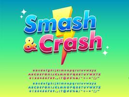 Logotipo di gioco mobile Design brillante e lucido vettore