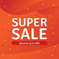 Sconto Super Sale fino al 20%, Vector