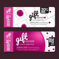 Voucher regalo Premium Design Voucher, modello coupon Golden, concetto di design per il buono regalo
