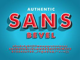 Moderno carattere Sans Serif con 3d smussato