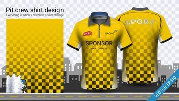 T-shirt da corsa con cerniera, modello mockup di abbigliamento sportivo.