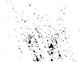 Acquerello astratto nero della spruzzata dell'inchiostro, struttura dello spruzzo dell'acquerello della spruzzata isolata su fondo bianco. Illustrazione vettoriale