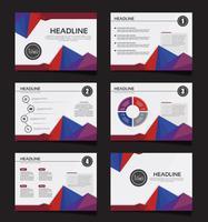 La presentazione aziendale fa scorrere i modelli dagli elementi infographic. volantino e depliant, brochure, relazione aziendale, marketing, pubblicità, relazione annuale, banner. vettore