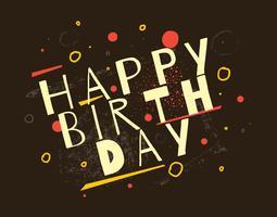 Buon compleanno tipografia vettore