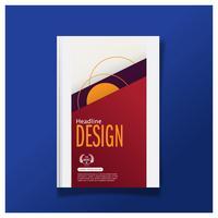 Modello della disposizione di progettazione della copertura dell'aletta di filatoio dell'opuscolo di affari nella dimensione A4, con il fondo Premier del modello di progettazione, vettore eps10.