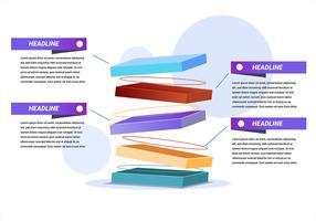 Elementi di 3D Infographic nel fondo bianco
