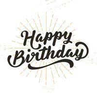 Buon compleanno lettering illustrazione vettore