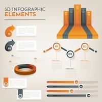 Pacchetto di vettore 3D infografica