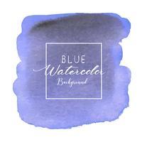 Sfondo blu acquerello astratto. Elemento acquerello per carta. Illustrazione vettoriale