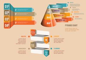 Insieme di vettore degli elementi infographic di affari 3D