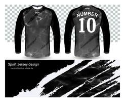 Modello di mockup di t-shirt manica lunga maglie da calcio.
