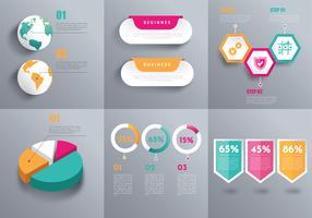 Pacchetto di elementi 3D infografica vettoriale