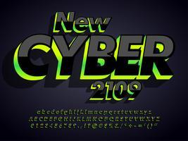 moderno carattere cyber scuro vettore