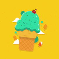 Vettore di gelato estivo