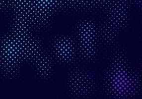 Effetto di movimento di semitono astratto del modello con gradazione di sbiadimento del punto blu e porpora su fondo e struttura scuri
