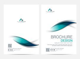 Modello di layout di brochure, copertina di sfondo vettore