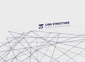 Prospettiva astratta della struttura delle linee di sovrapposizione su fondo bianco.