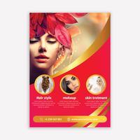 Brochure del salone vettore