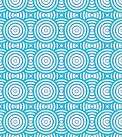 I cerchi astratti a spirale modellano il fondo e la struttura blu e bianchi.