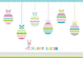Pacchetto di Pasqua felice vettoriale