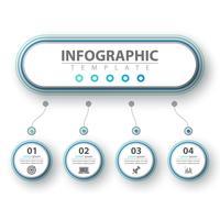 Infografica di affari Modello di origami di carta.