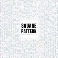 I quadrati bianchi e grigi astratti modellano la struttura del fondo. Stile geometrico Griglia a mosaico
