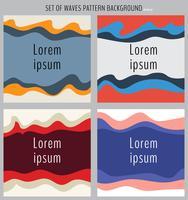 Insieme della priorità bassa dell'elemento di disegno dell'onda multicolor. Template banner web, sito web, brochure, flyer, cartoline, ecc. vettore
