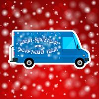 Bus di Natale isolato vettore