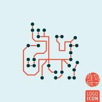Icona del chip di computer isolata
