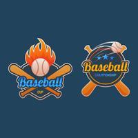 Distintivo di baseball di qualità Premium vettore