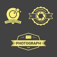 Badge di fotocamera di lusso vettore