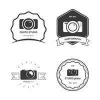Badge fotocamera vintage vettore