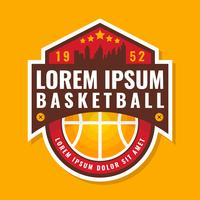 Distintivo di pallacanestro di qualità Premium vettore