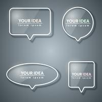 Icona di bolle di discorso. Informazioni sulla finestra di dialogo. vettore