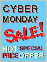 Modello di Cyber lunedì vettore