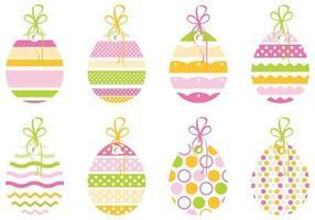 Pacchetto decorativo di vettore dell'etichetta dell'uovo di Pasqua