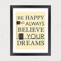 Citazione Inspirational Dreams vettore