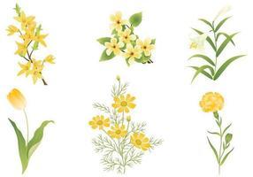 Pacchetto di fiori gialli vettore