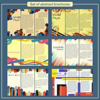 Set di template per brochure vettore