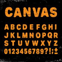 Carattere alfabeto tela