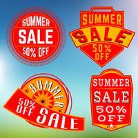 Francobolli di vendita estivi, insegne